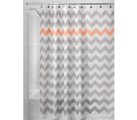 gray chevron shower curtain chevron fabric shower curtain light gray coral dorm