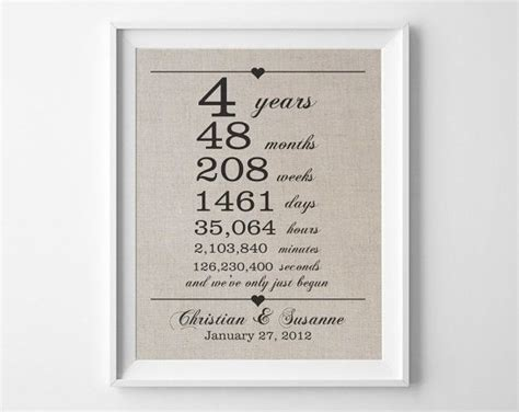 4th year wedding anniversary gift best 25 4th wedding anniversary gift ideas on
