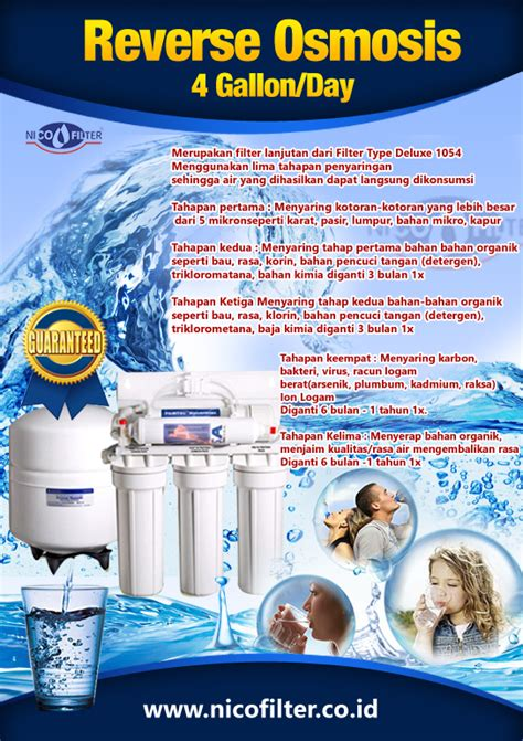 Nico Filter Filter Air Filter Air produk nico filter osmosis filter air