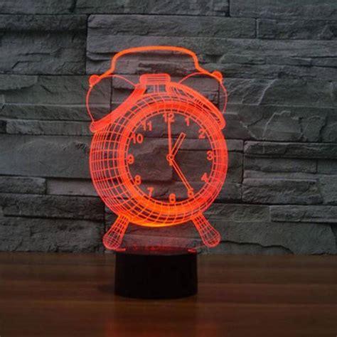 alarm clock  optical illusion led lamp hologram yoga mandala shop