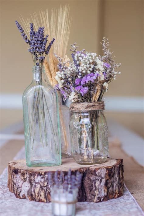 Dried Lavender Centerpieces Rustic Country Decor Lavender Centerpieces For Weddings