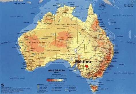 australia map of mildura australia map