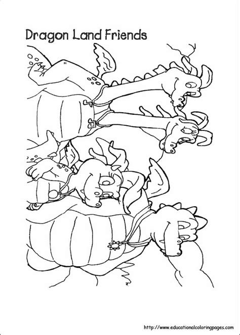 dragon tales coloring pages educational fun kids