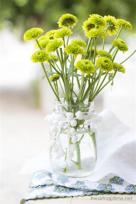 simple and sweet mason jar with flowers i heart nap time
