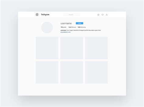 instagram templates for photoshop instagram profile mockup psd freebie uxfree com