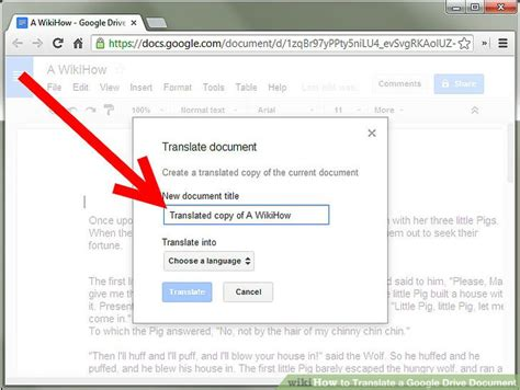 drive google translate how to translate a google drive document 7 steps with