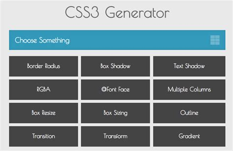 Table Layout Css Generator | top css generators for developers and designers