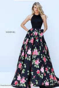 sherri hill 50333 floral print prom gown french novelty