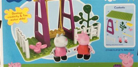 peppa pig swing set playground swing construction set mummy and the cuties