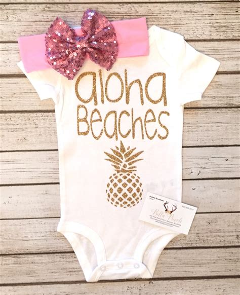 baby clothes baby bodysuit aloha beaches bodysuit