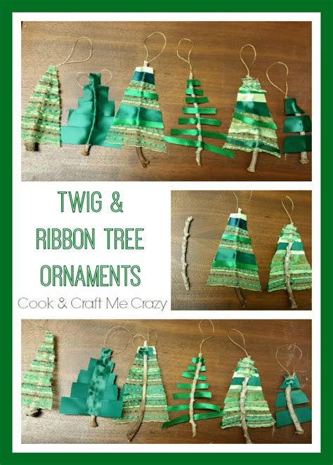 How To Make Ribbon Decorations For Tree by Cook And Craft Me Twig Ribbon Tree Ornaments