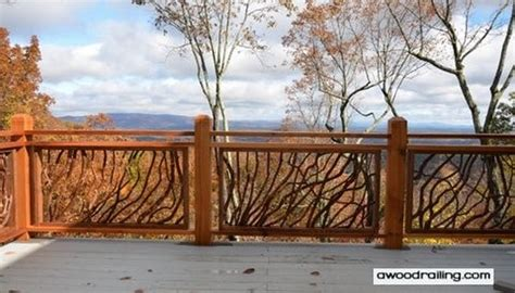 Tree Branch Banister 100s Of Deck Railing Ideas And Designs