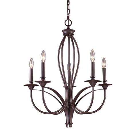chandelier mount titan lighting medford 5 light bronze ceiling mount chandelier tn 9605 the home depot