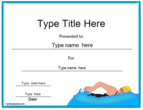 swimming certificates templates 1000 images about swimming certificates on