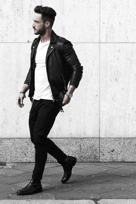 wear  leather jacket  men  fashion styles