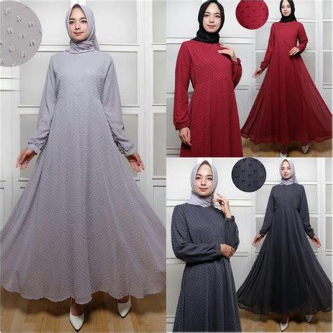 Rubiah Linen Syari Maxi Busui baju gamis polos terbaru rubiah maxi trend busana muslim