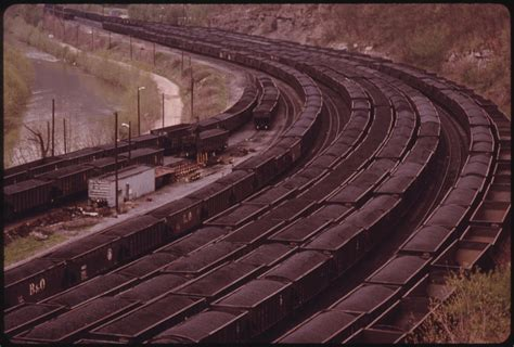 filea portion   rail yards  danville west virginia  charleston loaded  coal