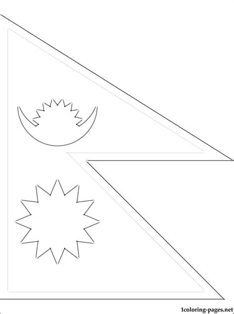 nepal map coloring page flag nepal coloring pages
