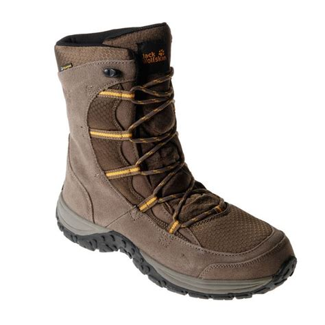 mens snow hiking boots wolfskin mens snowtrail shoes lace up snow hiking