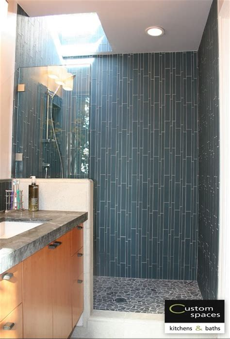 Waterfall Showers Bathroom Waterfall Shower Wall Modern Bathroom San Francisco