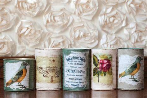 tutorial decoupage sobre latas latas decoradas con decoupage estilo vintage