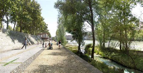 Landscape Architecture Perspective Perspective Insitu Berges Du Rhone 01 171 Landscape