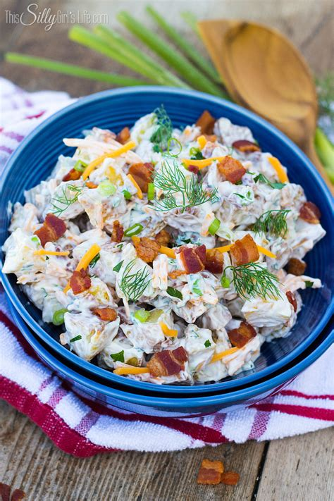 Shelf Of Potato Salad by Cheddar Bacon Ranch Potato Salad This Silly S Kitchen
