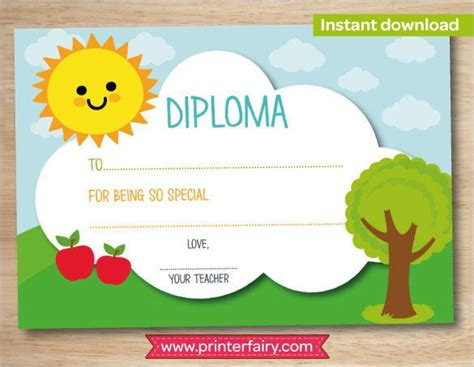 preschool graduation certificate template 46 best diplomas images on classroom ideas
