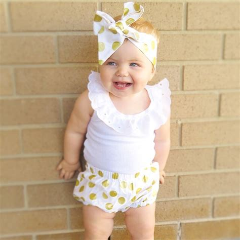 Bloomer Headwrap 10 gold polka dot shorties bloomers and topknot headwrap baby bubby makes three madeit
