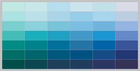 Blue Paints | blue paint swatches 14 portraits gallery homes