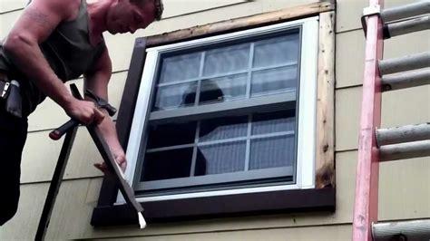 Window Stool Installation by Installing Exterior Window Trim