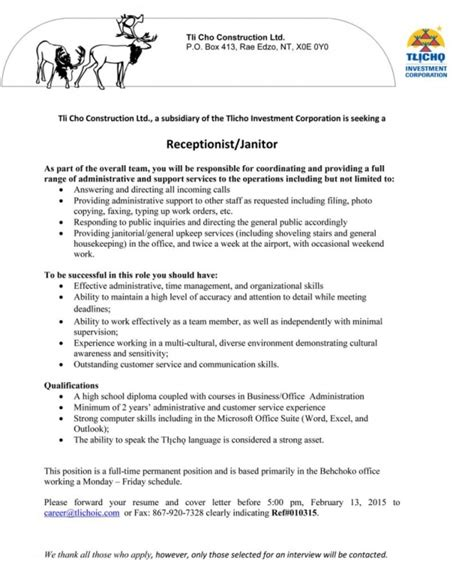 Custodian Resume Sle by Custodian Resume Sle 28 Images Janitorial Duties For