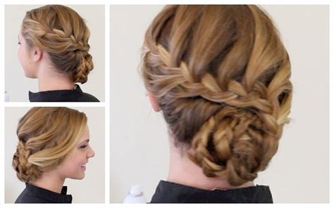 Braid And Curls Hairstyles by Updo Hairstyles With Braids And Curls Braided Formal Updo