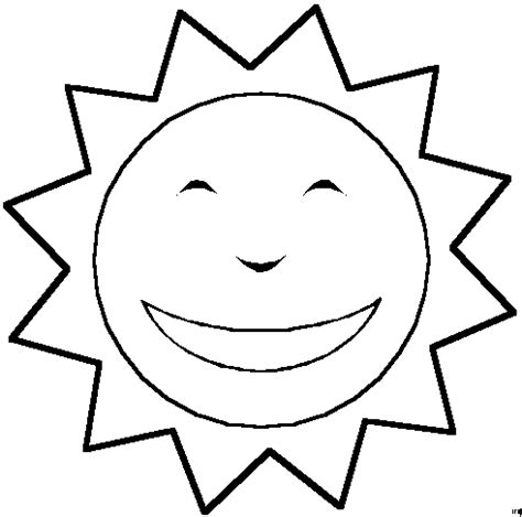 Sun Coloring Pages Coloringpages1001 Com Sun Colouring Page