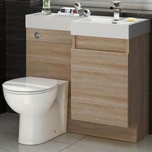 basin toilet vanity unit combination oak bathroom suite