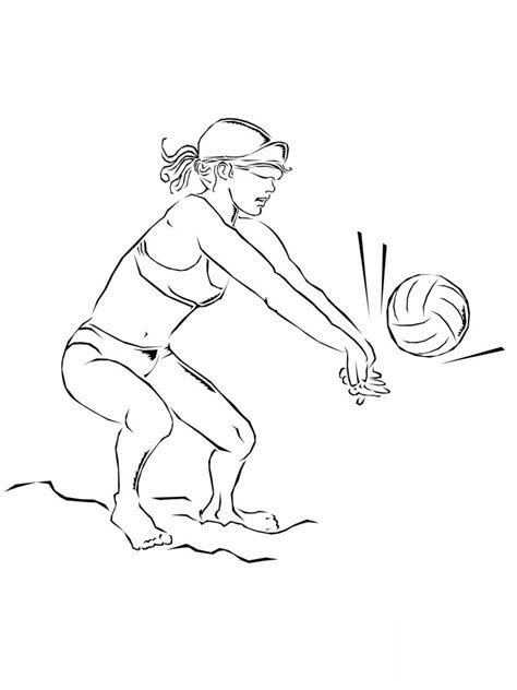 volleyball coloring pages printable free printable volleyball coloring pages for kids
