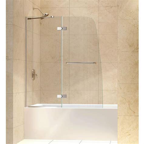 48 Shower Door by Dreamline Aqua Ultra 48 Inch Frameless Hinged Tub Door