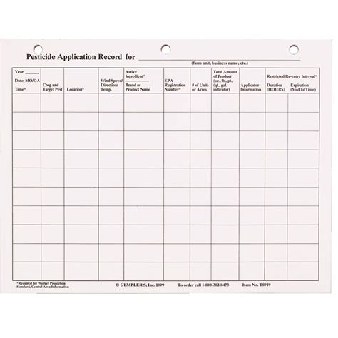 Washington Records Pesticide Application Record Sheet Pictures To Pin On Pinsdaddy