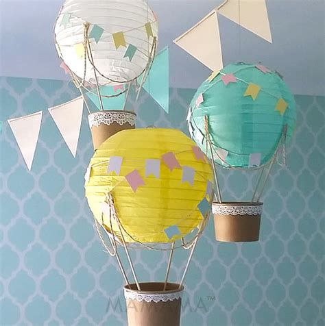 Handmade Air Balloon Decorations - whimsical air balloon decoration diy kit nursery decor