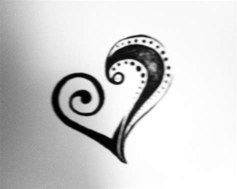 tribal love heart tattoos cliparts co