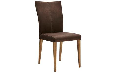 brauner stuhl brauner stuhl in stoff mit beiger kontrastnaht natura 4110