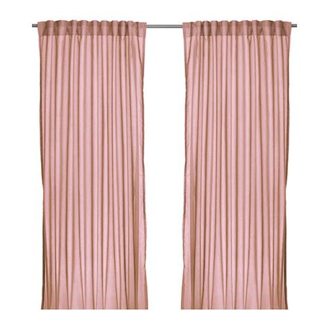 ikea curtain panels ikea vivan curtains drapes pink 2 panels pale shell blush