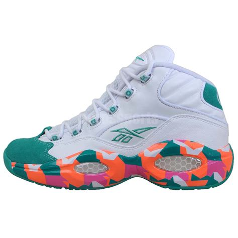 iverson basketball shoes reebok question mid easter camo 2014 allen iverson i3 mens