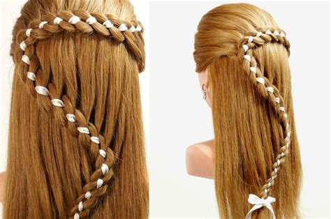 how to do twist hairstyles hairstyles for long hair 4 strand braid hair with ribbon