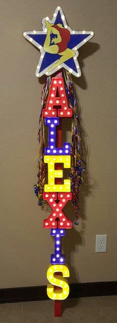 cheers light up sign cheerleading spirit sign for national competition made