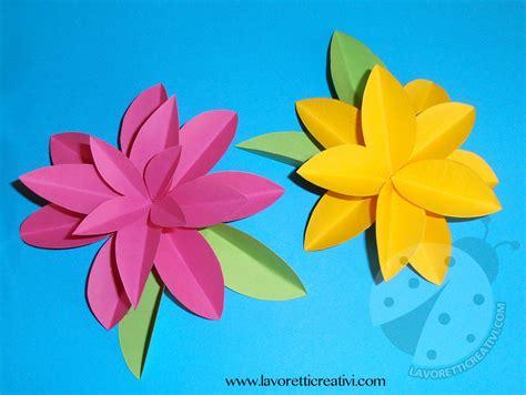 fiori di carta facili per bambini come realizzare fiori di carta