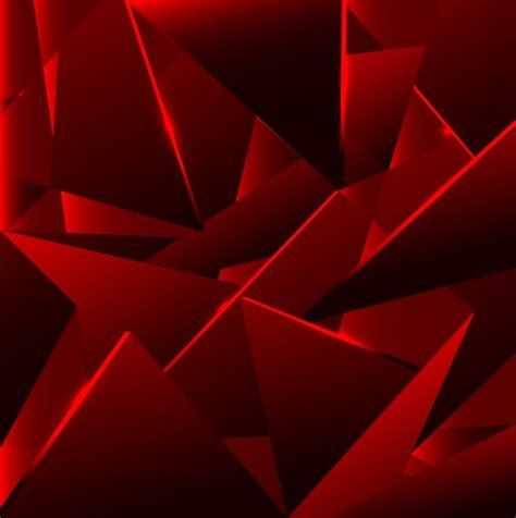 wallpaper abstrak segitiga abstrak latar belakang gelap merah 3d geometris dekorasi