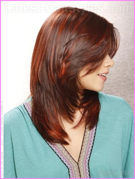 hairstyles for layered cut medium hair medium length haircuts with layers back view stylesstar