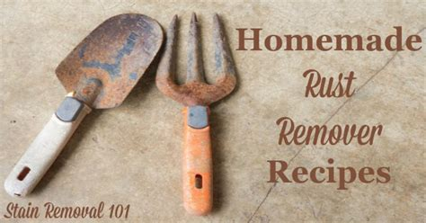 rust on cutlery rust remover recipes