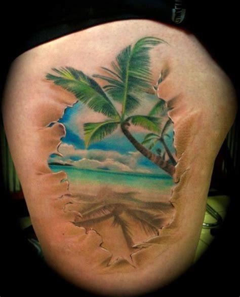 ocean tattoos palm tree on edge of tattoos book 65 000